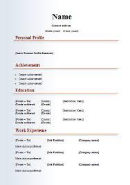 Best Simple Resume Template Simple Resume Template Free Download Easy Writing Simple Resumes