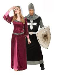 queen and knight costumes for couple