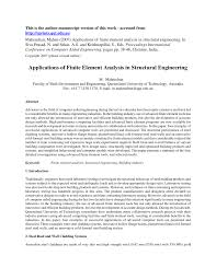applications of finite element analysis in structural engineering