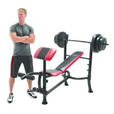 Weight Bench With Bar - competitor pro standard bench with 100lb weight set target