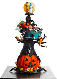 Halloween Skull Cakes by Halloween Satin Ice