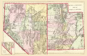 Utah County Map Old State Map Nevada Utah Mitchell 1890