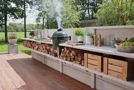 evier cuisine exterieure design interieur cuisine extérieure evier bois sous lavabo