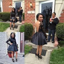 black short prom dress cheap a line lace and taffeta long