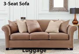 3 Piece T Cushion Sofa Slipcover by Cushions Slipcover In Ultimate Heavyweight Stretch Suede