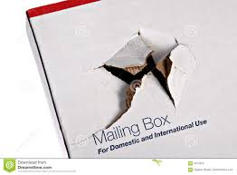 damaged shipping box stock photos image 4473223
