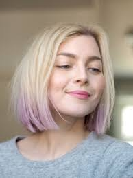 long bob with dipped ends hair dip dyed pastel hair lilac lavender violet photo pupulandia