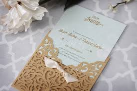 vintage wedding invitation vintage wedding invitation with laser cut pocket