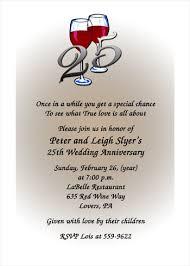 breathtaking 25th wedding anniversary invitation wording exles