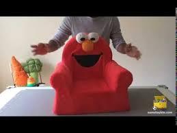 Elmo Sofa Chair Marshmallow Comfy Chair Sesame Street Elmo Review Youtube