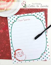 free printable writing paper to santa free printable letter to santa