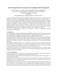 system requirements analysis for e learning systems using grid