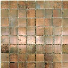 Copper Tile For An Accent Strip In The Backsplash - Copper tile backsplash