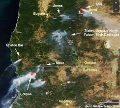 map of oregon evacuation wildfires in northwest california and southern oregon were