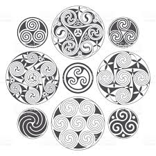 vector celtic spiral design for prints tattoo and decoration stock