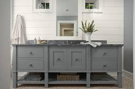 Wooden Bathroom Vanities by Great Long Grey Wood Bathroom Vanity Have Triple Sinks Stainless