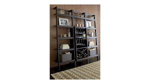 sawyer mocha leaning wine bar with two 24 5 u0027 u0027 bookcases crate
