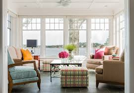 Multi Colored Ceiling Fans by Multicolored Stool Sunroom Transitional With Sunroom Contemporary