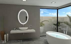 Lit Bathroom Mirror Backlit Bathroom Mirror Oval 24 X 36 In Ib Mirror