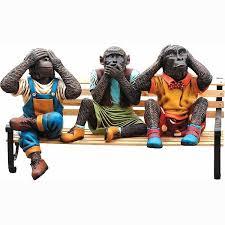 Monkey Bench Monkey U0027s On The Bench Statue Life Size Statues Fiberglass
