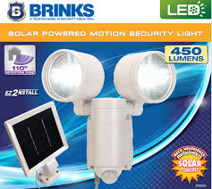 brinks led solar powered motion activated security light white