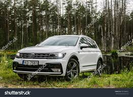 volkswagen tiguan white 2017 baltezers latvia august 21 2017 outdoor stock photo 701368825