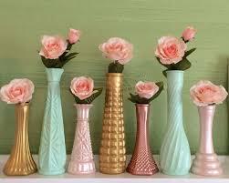 Mini Bud Vases Upcycled And Vintage Glass Vases U0026 Decor By Thebarnett On Etsy