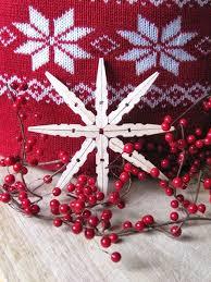 sew many ways easy handmade clothespin snowflake ornaments