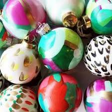 britt bass painted ornaments decorating