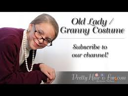 old lady granny costume youtube