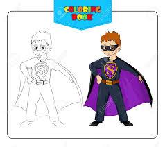 boy carnival costume superhero coloring book