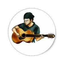 guitar sketches stickers zazzle