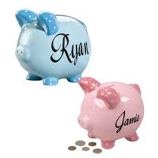 Engraved Piggy Bank Personalized Kids Piggy Bank Personalized Piggy Bank Miles Kimball