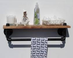 Rustic Industrial Bathroom by Rustic Towel Rack Etsy