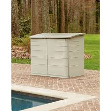 exterior small rubbermaid sheds ideas with stone walkway and