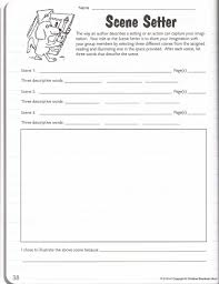 Setting Worksheets Scene Setter Literature Circles Worksheets Geraldvidal2 U0027s Blog