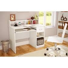 south shore axess 1 drawer computer desk with hutch u0026 reviews