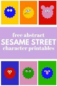 free sesame street font u0026 face printables 4 love family