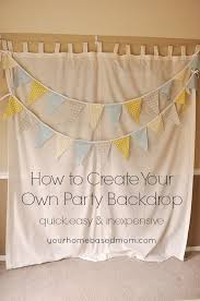 how to make a backdrop how to create your own party backdrop