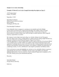 examples of cover letter for internship cover letter for