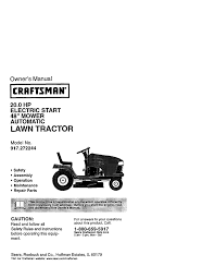 craftsman 917 272244 owner s manual