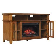 Infrared Quartz Fireplace by Harper Blvd Copeland Oak Media Console Stand Electric Fireplace