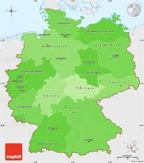 Germany Map by Political Shades Simple Map Of Germany Single Color Outside