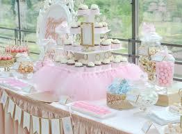 Pink And Gold Dessert Table by Disney Princess Inspired