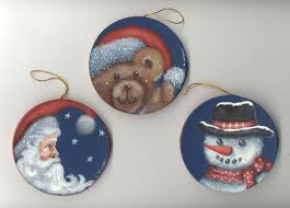 christmas hand painted ornaments lee wismer decorative painting