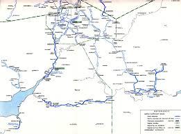 Leeds England Map by British Waterways System Map South