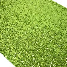 discount wedding supplies sequin table runner lime green 404461 wholesale wedding