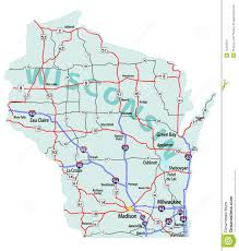Map Of Northern Wisconsin by Wisconsin State Interstate Map Stock Image Image 15233531