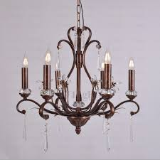 Vintage Crystal Chandelier For Sale Retro 6 Light 22 H Antique Crystal Chandelier