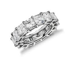 Wedding Set Rings by Asscher Cut Diamond Eternity Ring In Platinum 9 50 Ct Tw